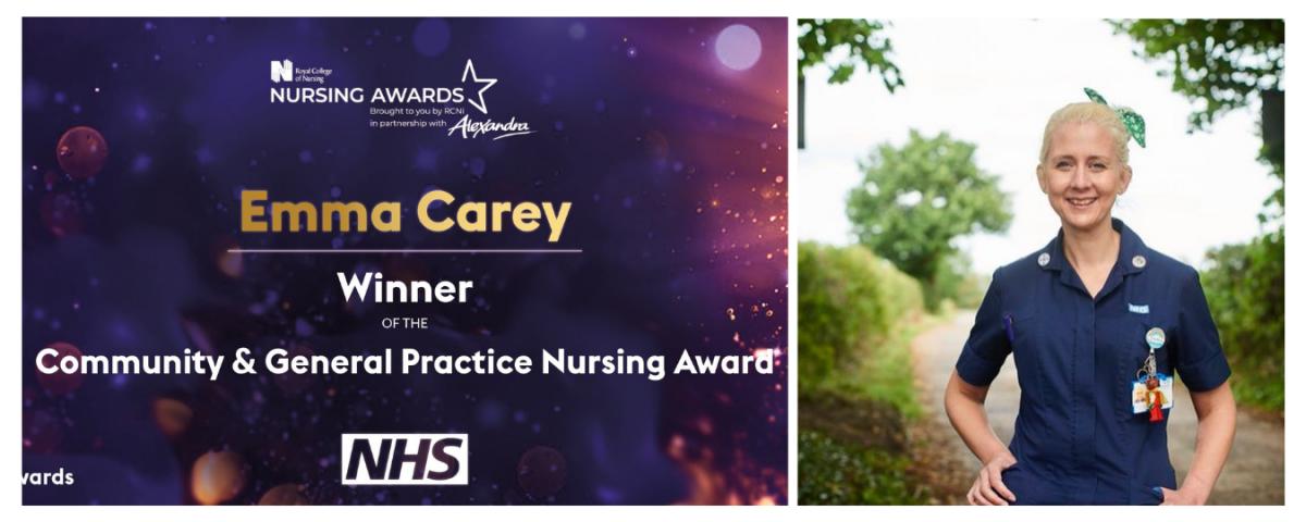 Emma Carey Health Visitor RCNI Win